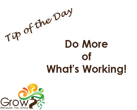 Focus On What Is Working!