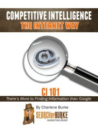 competitive intelligence the internet way