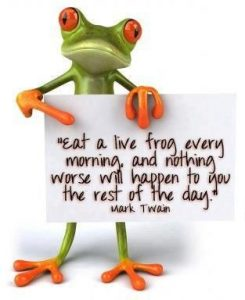 eat the frog just do the most difficult or worse task first