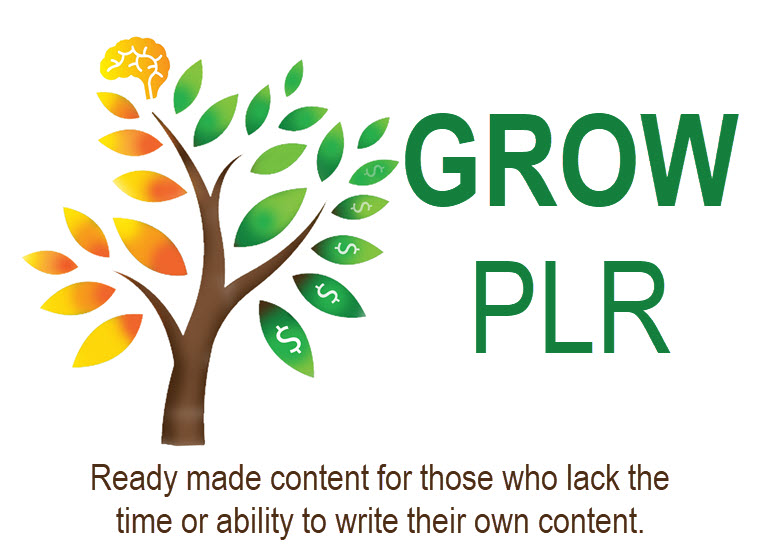 GROW PLR ready made private label rights content for online business