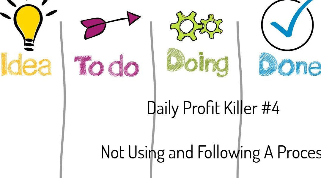 Daily Profit Killer #4 – Not Using and Following A Process